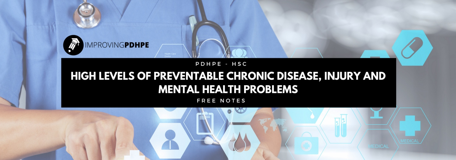 Preventable Chronic Disease, Injury and Mental Health Problems